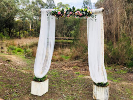 Birch Arbour With Flowers