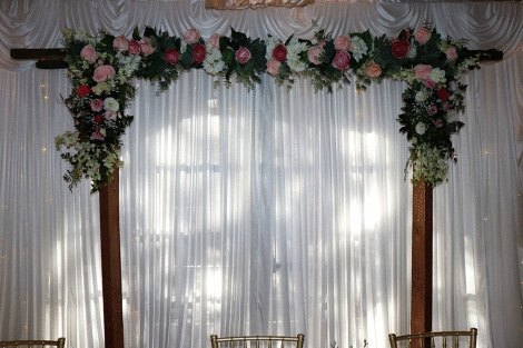 White Curtain Backdrop 3m