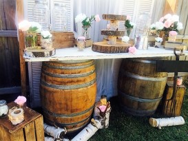 Wine Barrel and Door Bar