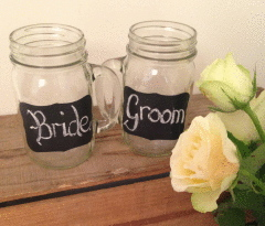 Mason Jar with Handle (437 mls)
