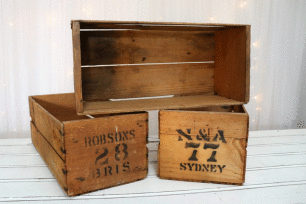 Small Fruit Box - Honey Brown Wood