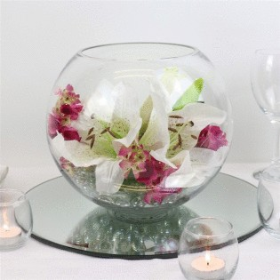 Glass Fishbowl Vase