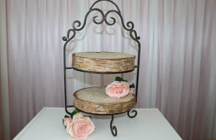 2 Tier Cake Stand - Wrought Iron