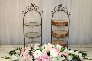 3 Tier Cake Stand - Wrought Iron