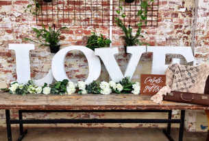 Love Letter Shelf with Flowers