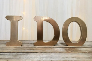 'I Do' Wooden Letters