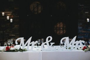 'Mr & Mrs' Wooden Letters - Large