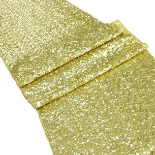 Sequin Table Runner - Gold
