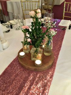 Sequin Table Runner - Pink