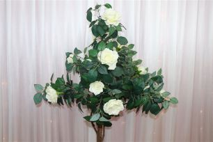 Potted Artificial Rose Tree