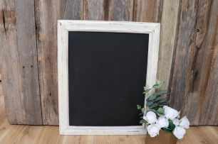 White Frame Blackboard - Medium