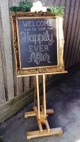 Gold Wooden Easel