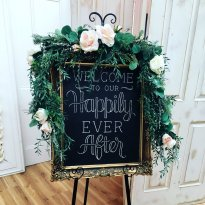 'Welcome To Our Happily Ever After' Gold Frame Sign