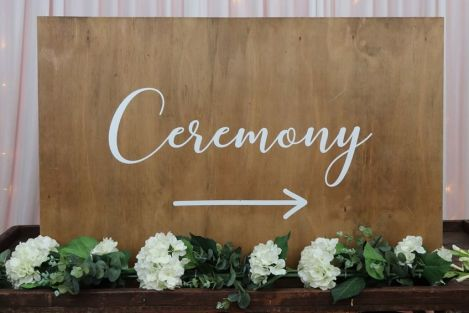 Wooden Ceremony Sign - Large