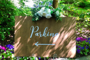 Wooden Parking Sign - Large
