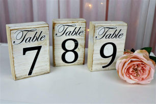 White-Wash Table Numbers