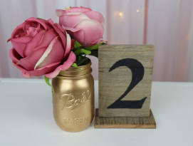 Rustic Table Numbers - Black font