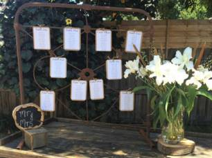 Rustic Gate - Seating Chart Display