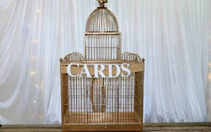 Gold Wishing Well Birdcage - Large