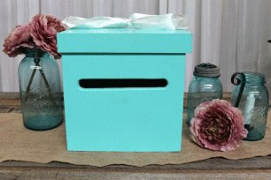 Tiffany Blue Wishing Well Box