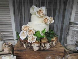 Birch Wood Cake Stand - Extra Large