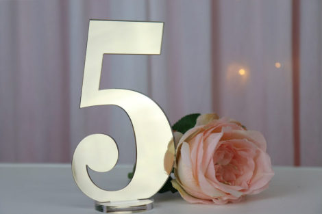 Gold Mirror Table Numbers