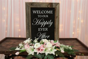 'Welcome to our Happily Ever After' - Rustic Sign