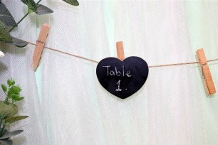 Love Heart Blackboard Pegs