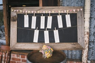 Rustic Blackboard - Seating Chart Display
