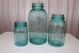 Vintage Blue Mason Jar - Pint