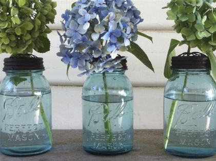 Vintage Blue Mason Jar - Quart