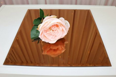 Square Rose Gold Mirror