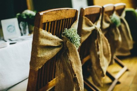Hessian Chair Sash