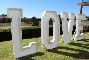 Giant LOVE Letters - 1.8m tall