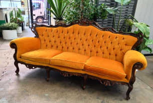 Vintage Couch - Gold