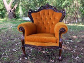 Vintage Gold Armchair