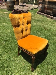 Vintage Gold Dining Chair