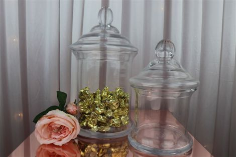 Candy Jars w/Lids - Small Cylinder