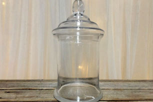 Candy Jars w/Lids - Large Cylinder