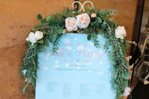 Silk Flower Garland for Easel - Jessica