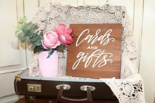 'Cards & Gifts' Wooden Sign