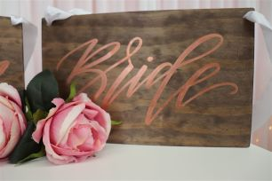 Bride & Groom Wooden Sign
