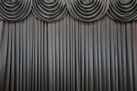 Black Silk Curtain Backdrop
