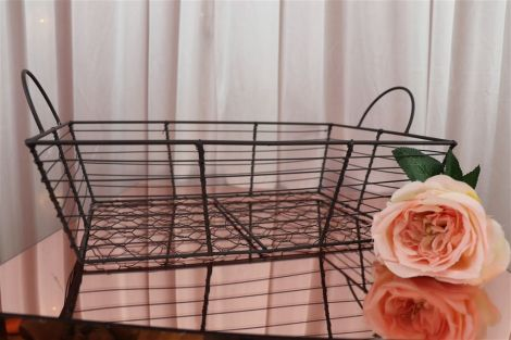 Rustic Wire Basket - Rectangle