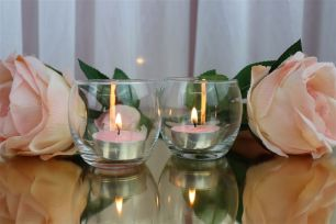 Glass Tealight Candle Holder