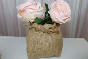 Hessian-Wrapped Vases