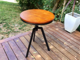 Rustic Bar Table - Wooden Top