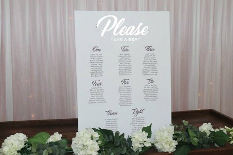 Printed Seating Chart - A1