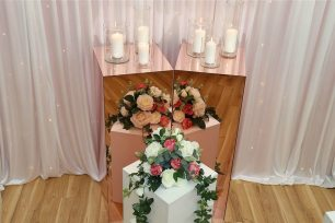 110cm Rose Gold Mirror Plinths