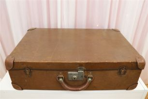 Vintage Suitcases - Large Tan
